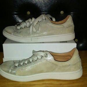UGG Milo Suede Stardust Shimmer Sneaker Shoe 6.5